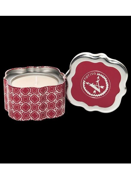 Votivo Votivo Candle  Quatrefoil Tin Red Currant