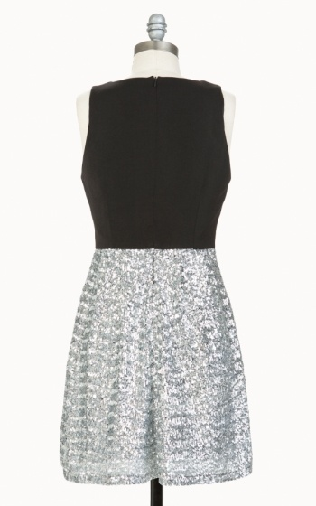 Tulle Tulle Silver Sequin Party Dress