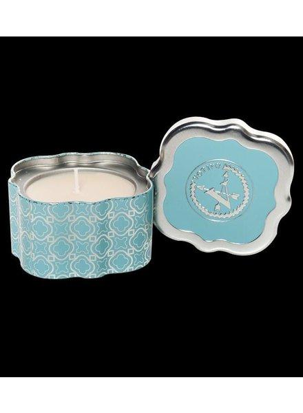 Votivo Votivo Candle Quatrefoil Tin Icy Blue Pine
