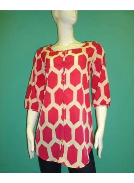 KLd Signature Scoop neck print tunic