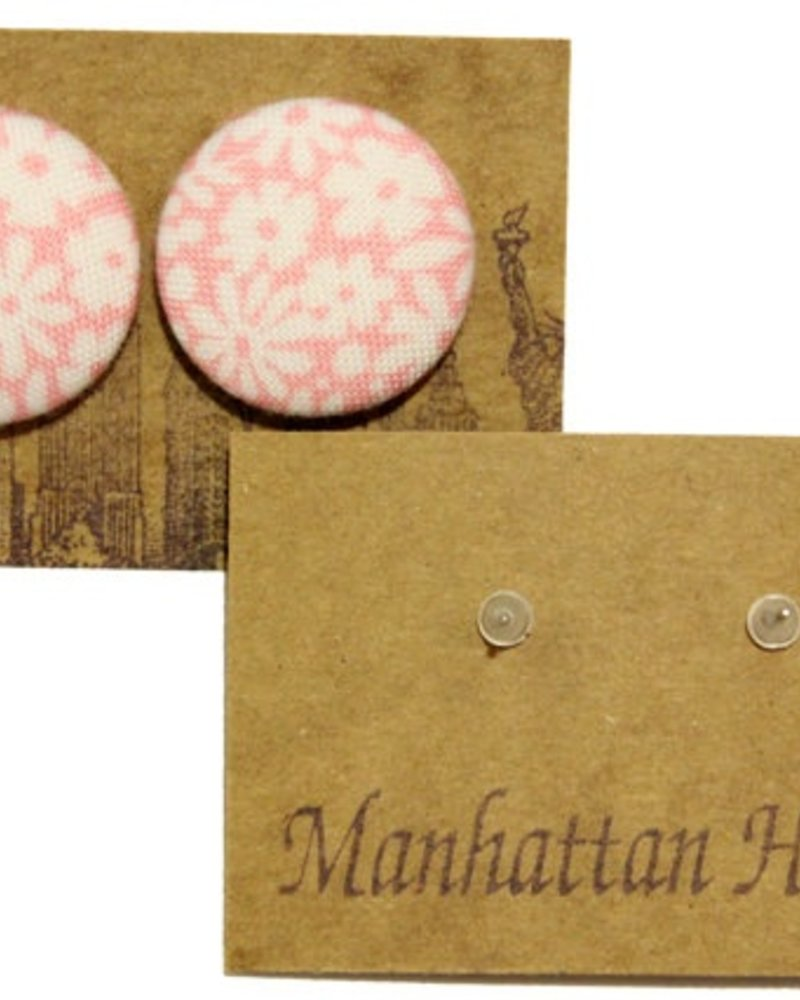 Manhattan Hippy MH Pink flower print earring