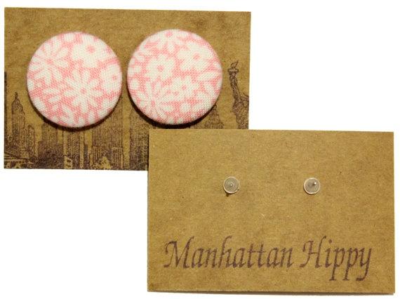 Manhattan Hippy MH Pink flower print earring