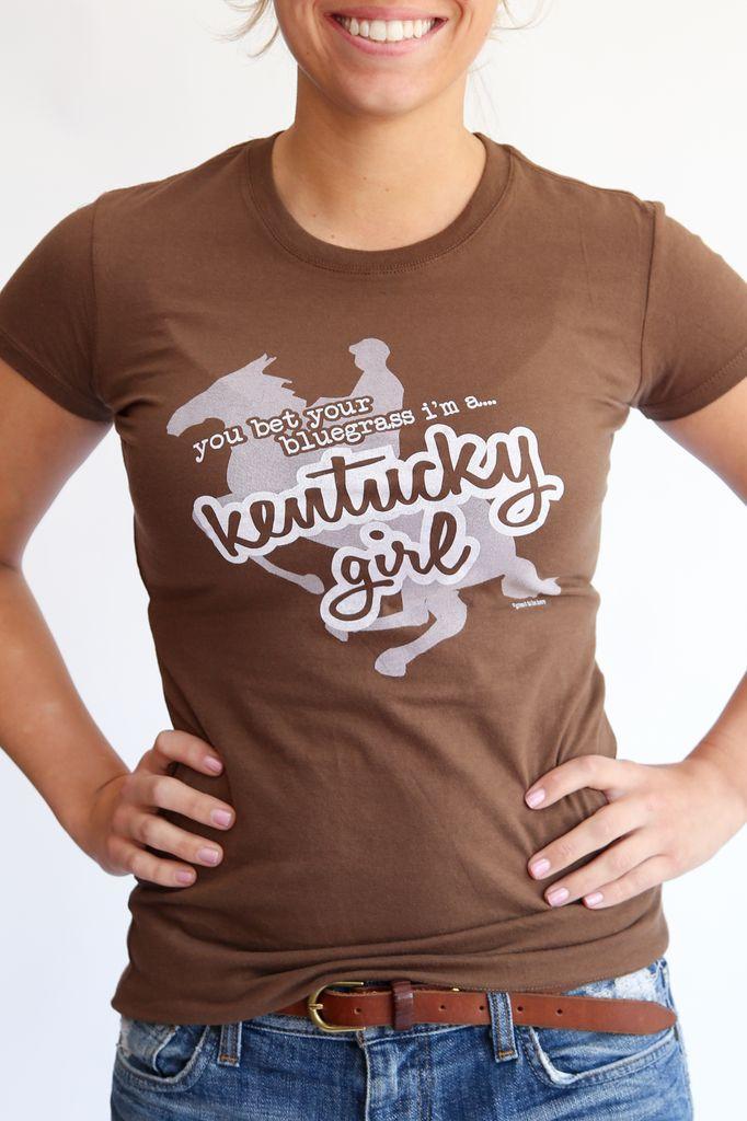 Great to Be Here Tees Kentucky Girl Tee Brown