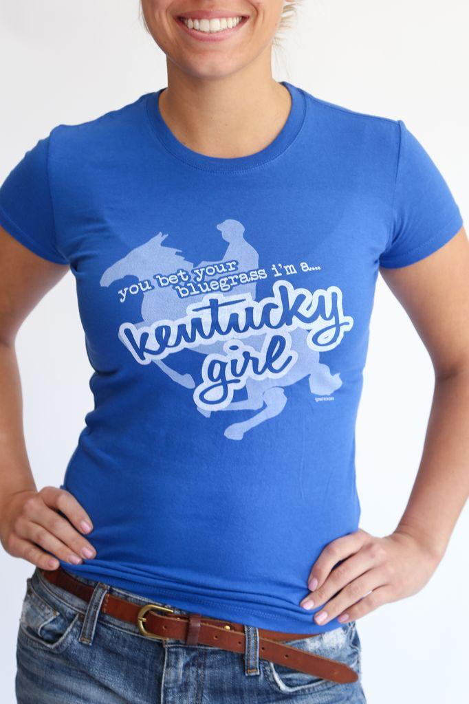 Great to Be Here Tees Kentucky Girl Tee Blue