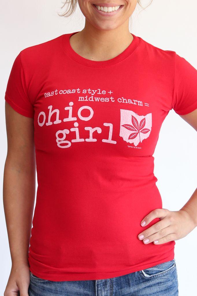 Great to Be Here Tees Ohio Girl Tee