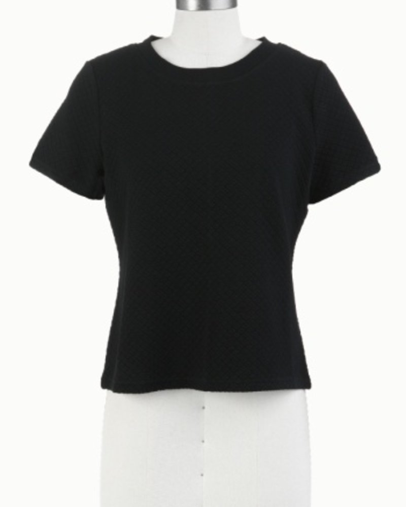 Tulle Tulle Basic Top with Exposed Zip