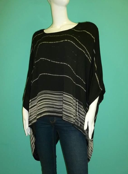 KLd Signature KLd Signature Oversized Top with Knit Back
