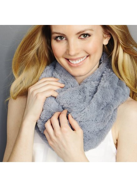 Two's Two's Faux Fur Infinity Scarf