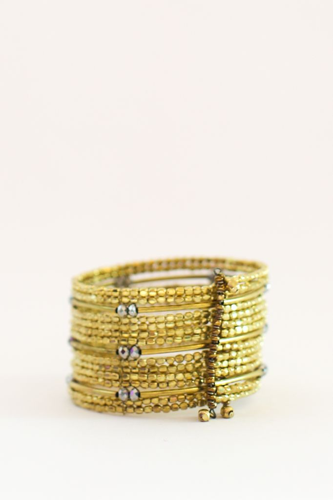 Two's Golden Moments Cuff Bracelet
