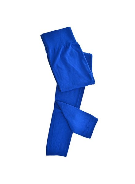 Clothing Trend Fleece Lined Leggings, Royal Blue
