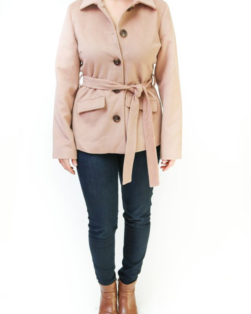 Tulle Tulle Camel Tie Coat