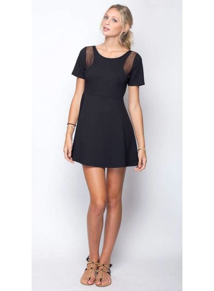 Gentle Fawn Gentle Fawn Black Mesh Dress