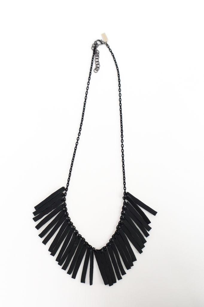 Flocktails Flocktails Donna Necklace - Black with black chain