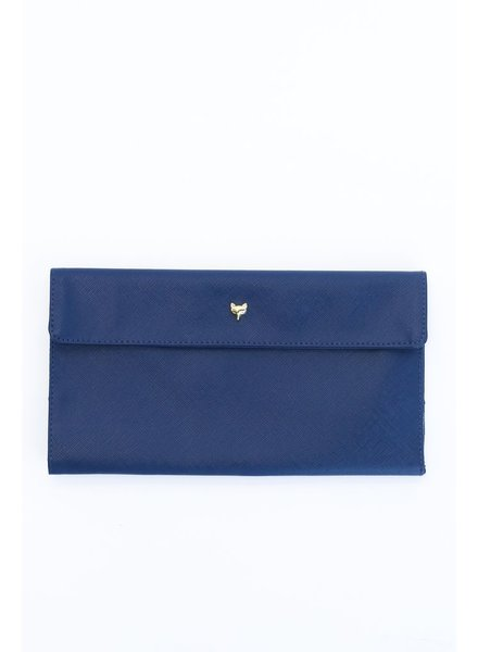 Two's Fox Travel Wallet, Navy