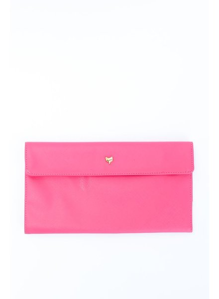 Two's Fox Travel Wallet, Pink