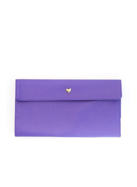 Two's Fox Travel Wallet, Purple