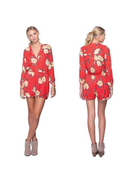 Gentle Fawn Gentle Fawn Floral Print Romper