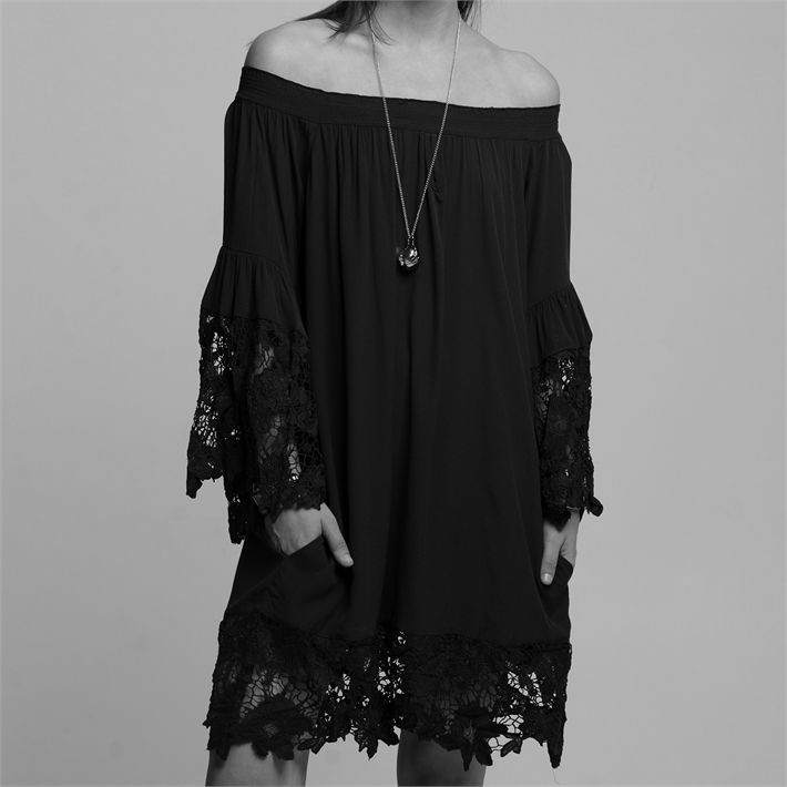 Two Chic Luxe Luxe Off the Shoulder Lace Dress