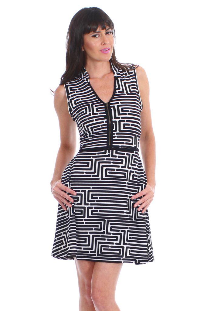 vfish designs vfish designs geometric print dress