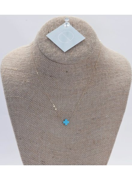 Enewton Design Turquoise signature cross necklace - 18 inch