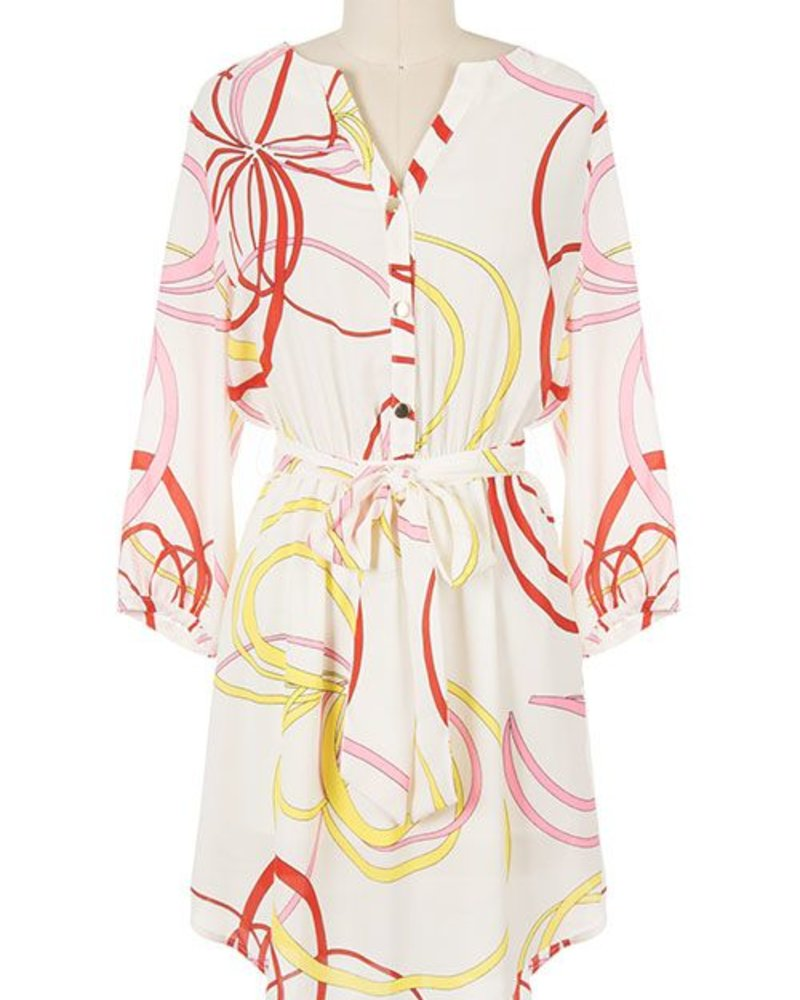 Decapolis Abstract swirl print dress