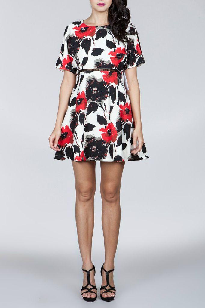 Ark & Co. Ark & Co Floral Print Cutout Dress