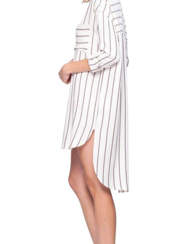 Gentle Fawn Gentle Fawn Striped Shirt Dress