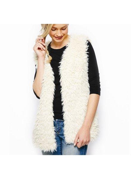 Two's Faux Lamb Fur Vest