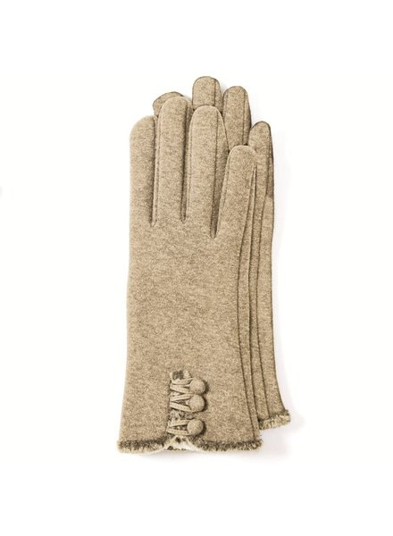 Two's Button detail gloves