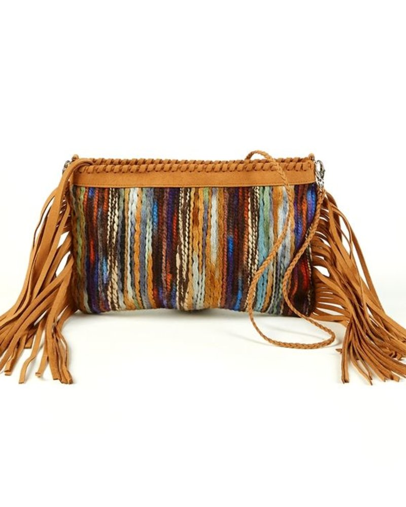 Two Chic Luxe Two Chic Luxe Suede Fringe Clutch