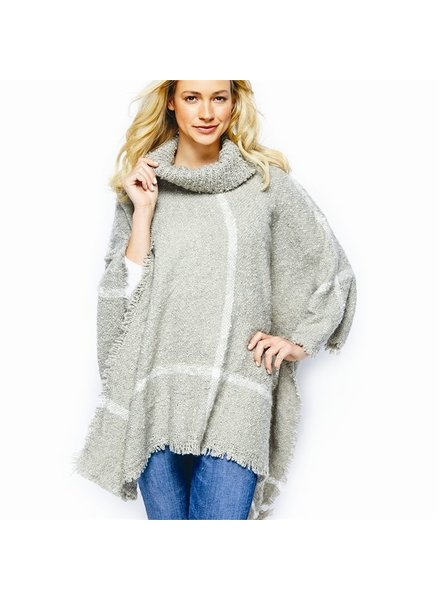 Two's Two's Cowl Neck Poncho