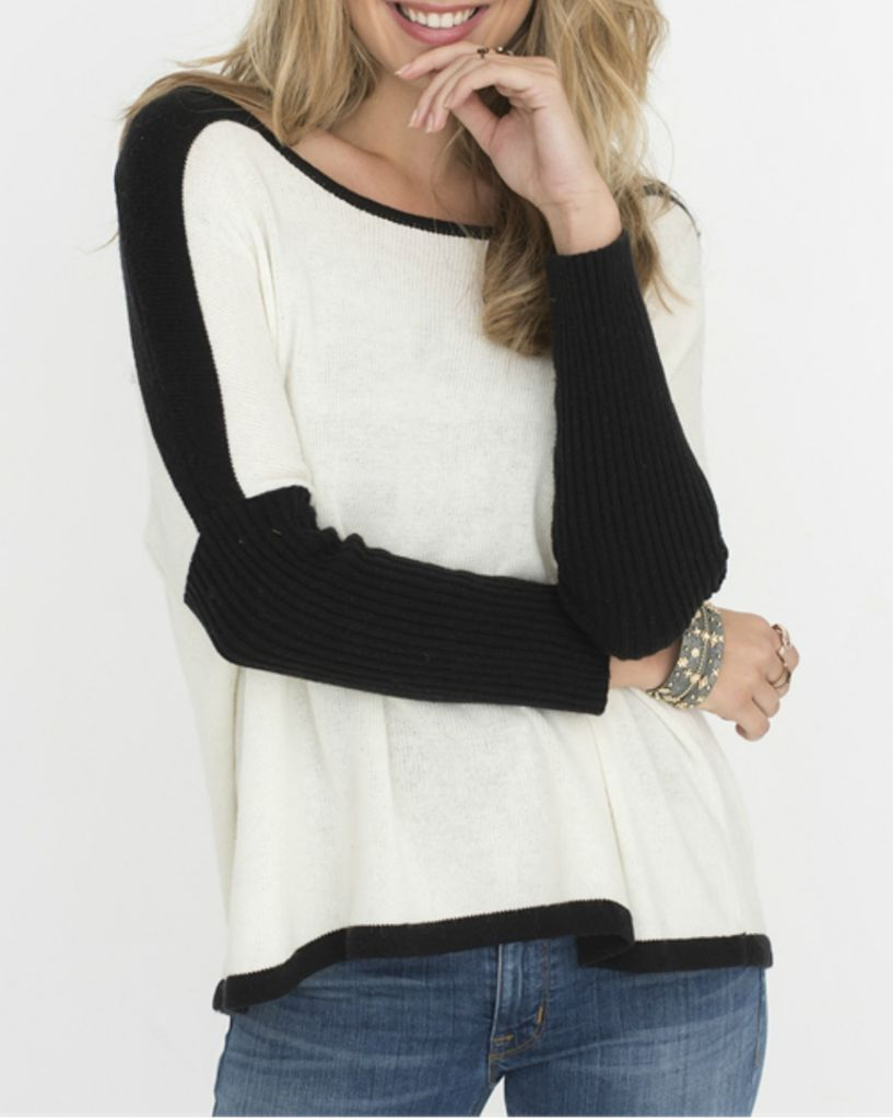 Two Chic Luxe Two Chic Color Block Sweater