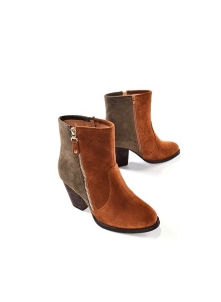 Charlie Paige Zip Up Two Tone Bootie