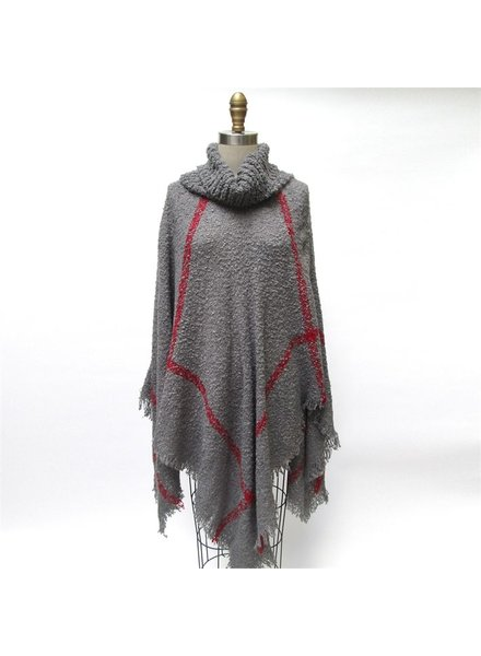 Two's Cowl Neck Gameday Poncho