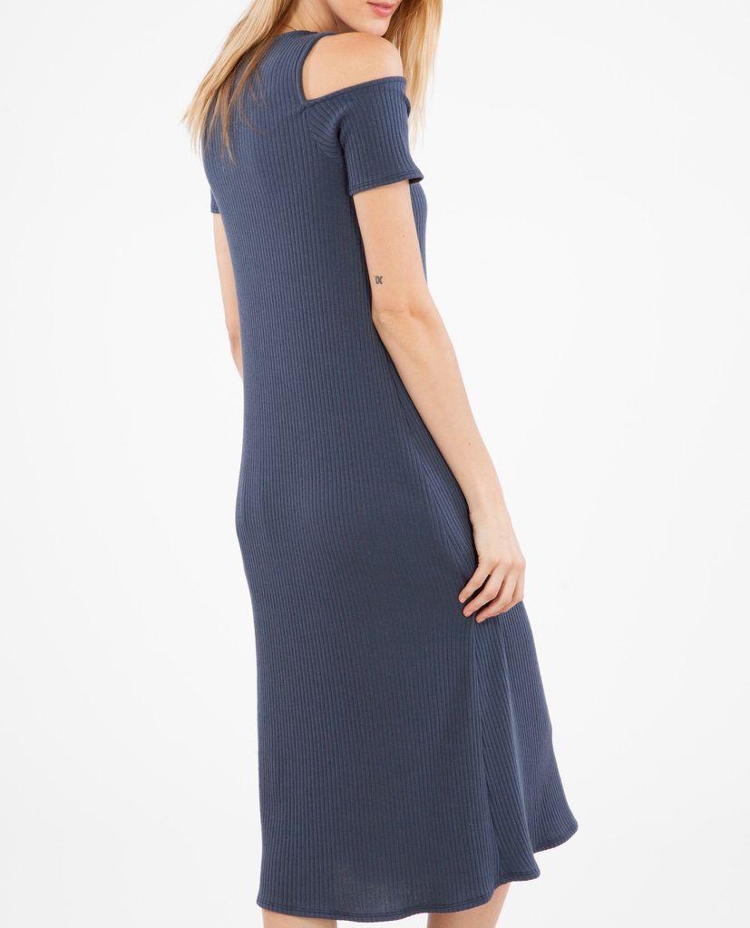 Peach Love CA Cold Shoulder Knit Dress