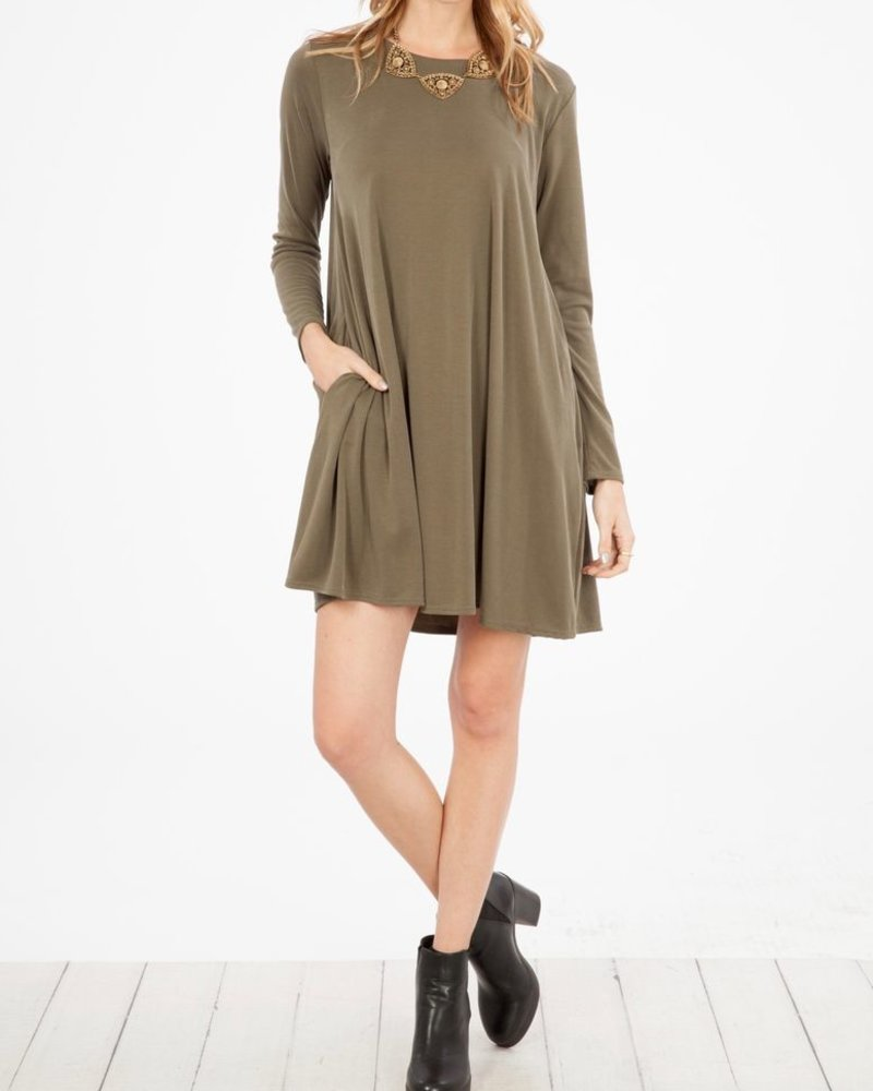Peach Love CA Solid T-shirt Dress