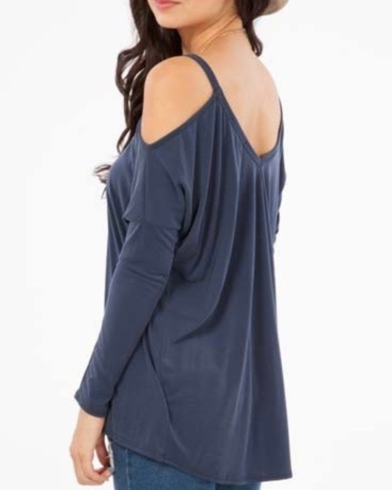 Peach Love CA Modal open shoulder top
