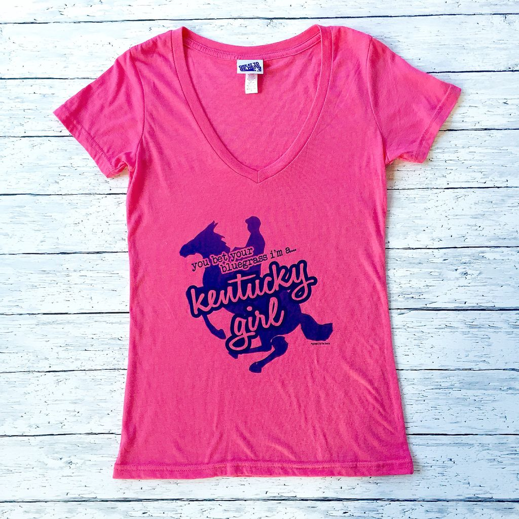 Great to Be Here Tees Tri-Blend Kentucky Girl Tee