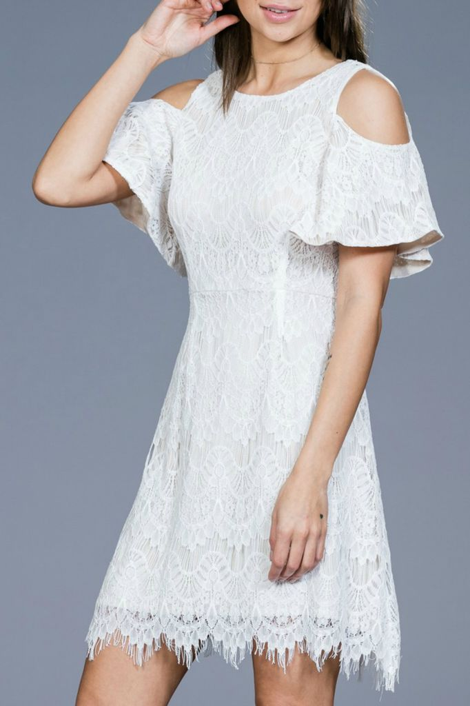 Ark & Co. Ark & Co. Lace Open Shoulder dress