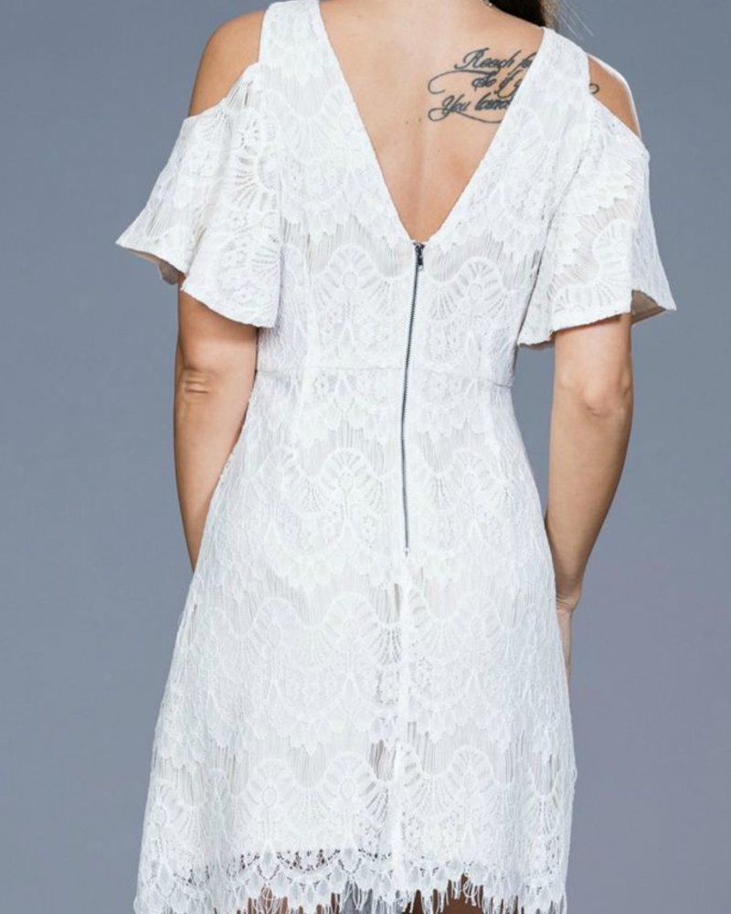 Ark & Co. Ark & Co. Lace Open Shoulder dress