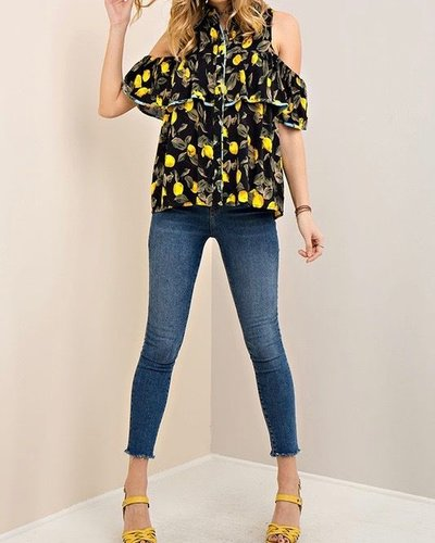 Entro Printed Ruffle Top