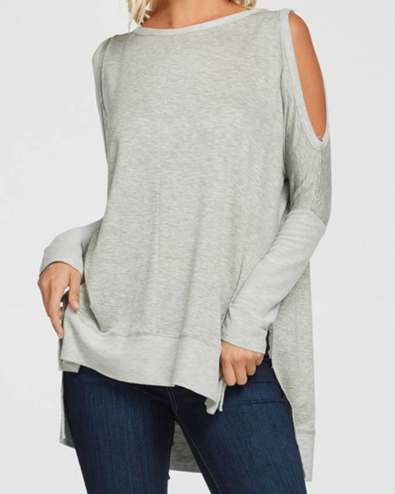 a.gain Relaxed Fit Cold Shoulder Top
