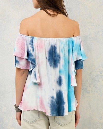 Entro Tie dye off the shoulder top