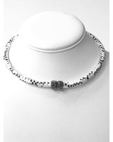 Bella Figlia Designs Black and White snakeskin choker
