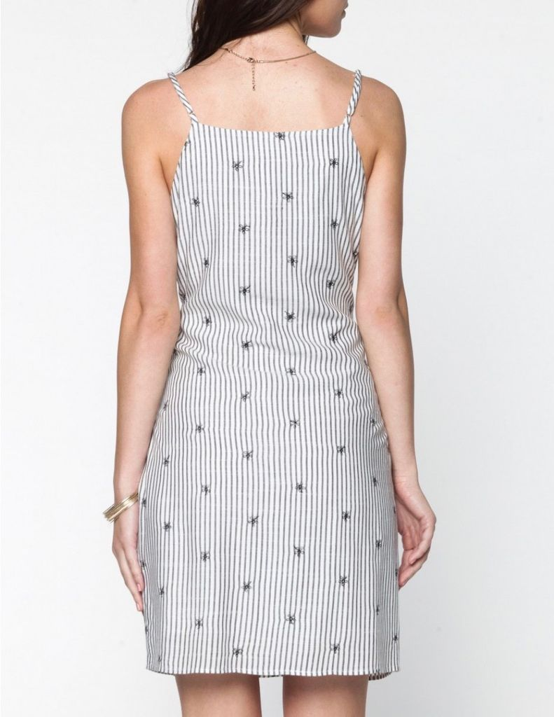 Everly Front tie striped dress