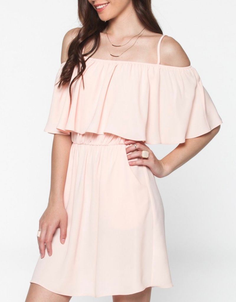 Everly Front Ruffle Dress