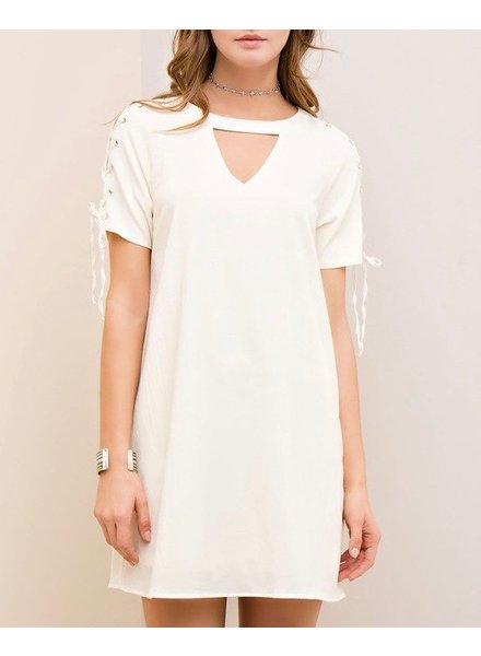 Entro Tie Sleeve Dress