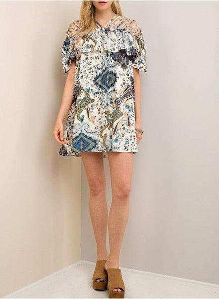 Entro Paisley Print Dress