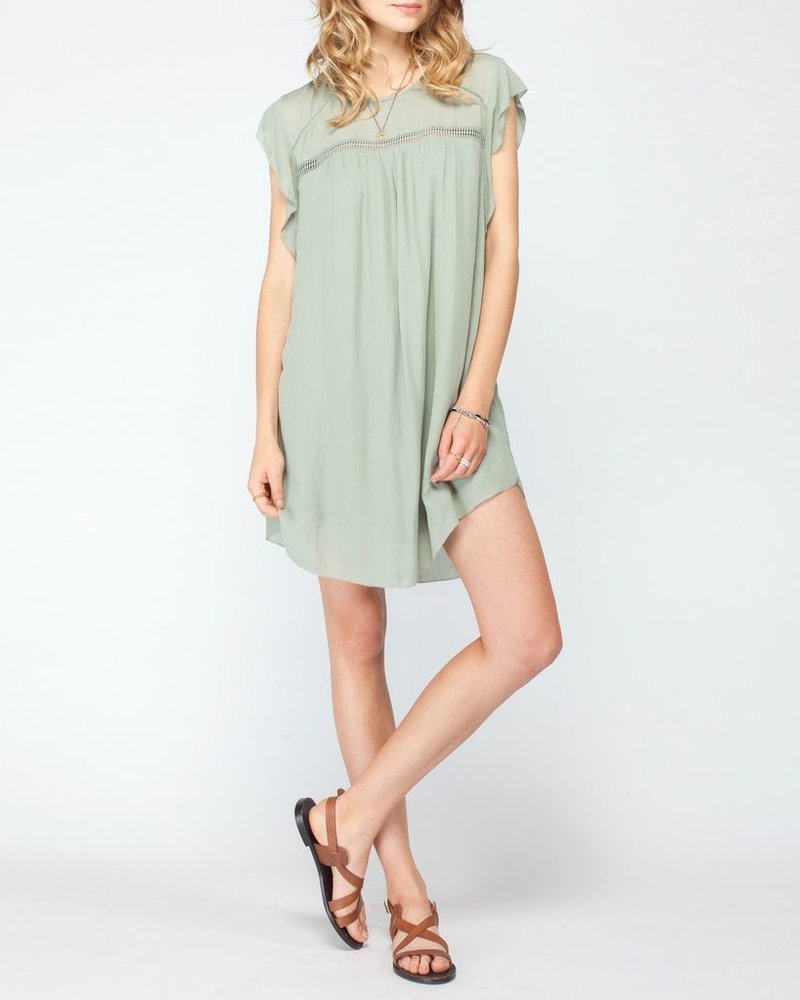 Gentle Fawn Flutter Sleeve Dress
