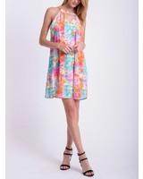 Peach Love CA Watercolor Dress